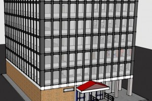 3D Design of an existing clients office block by Acorn Works Ltd