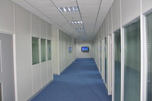 Partition Walls which form seperate offices based in Thetford, Norfolk