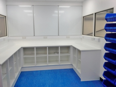 New QA Lab Facility with office partitioning in Norwich, Norfolk by Acorn Works Ltd