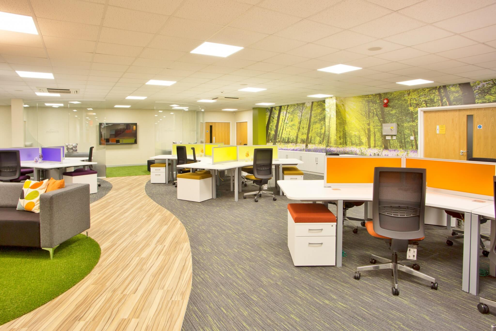 Commercial interior office refurbishment specialists for Office design works
