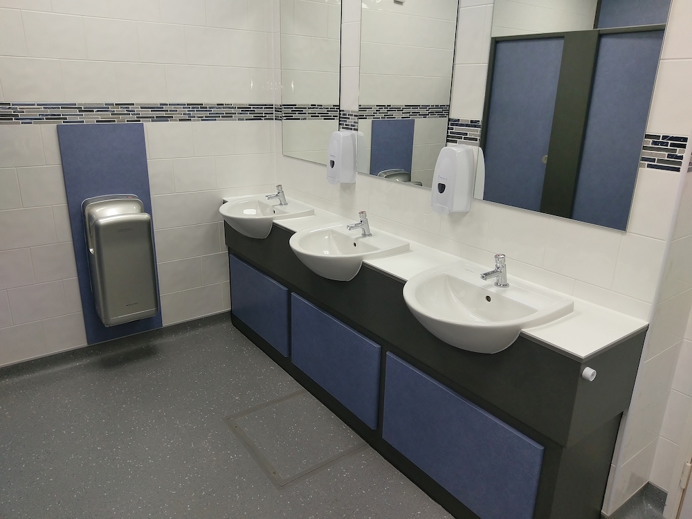 commercial washroom refurbishment