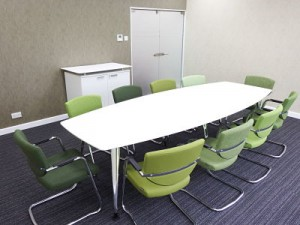 Meeting Room Refurbishment Projects with new furniture, seating, lighting, floors, decoration and frosted glass doors for IFF based in Haverhill, Suffolk