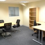 Turnkey Office Refurbishment built on a newly installed mezzanine floor in Peterborough, Cambridgeshire by Acorn Works Ltd