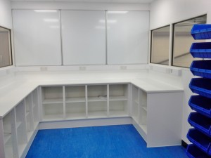 New QA Office and Lab Refurbishment Project installed by Acorn Works Ltd with office partitioning for a site in Norwich, Norfolk