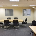 Managers Office with Meeting Area built on a newly installed mezzanine floor in Peterborough, Cambridgeshire by Acorn Works Ltd