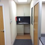 CCA Office Refurbishment Project containing a small kitchen tea point area.