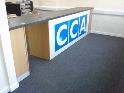 Custom Built Trade Counter with new mezzanine floor in Norwich, Norfolk by Acorn Works Ltd