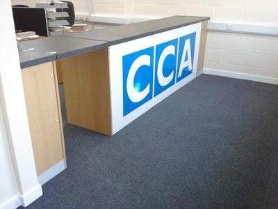 Custom Built Trade Counter with new mezzanine floor in Norwich, Norfolk by Acorn Works Ltd