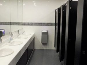 Part of a Canteen and Washroom Refurbishment Project spread over three office floors. Cambridge, Cambridgeshire