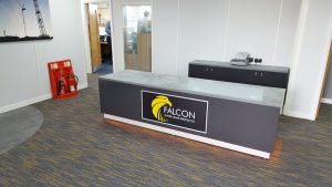 Reception Refurbishment for Falcon Cranes, Shipdham, Norfolk.