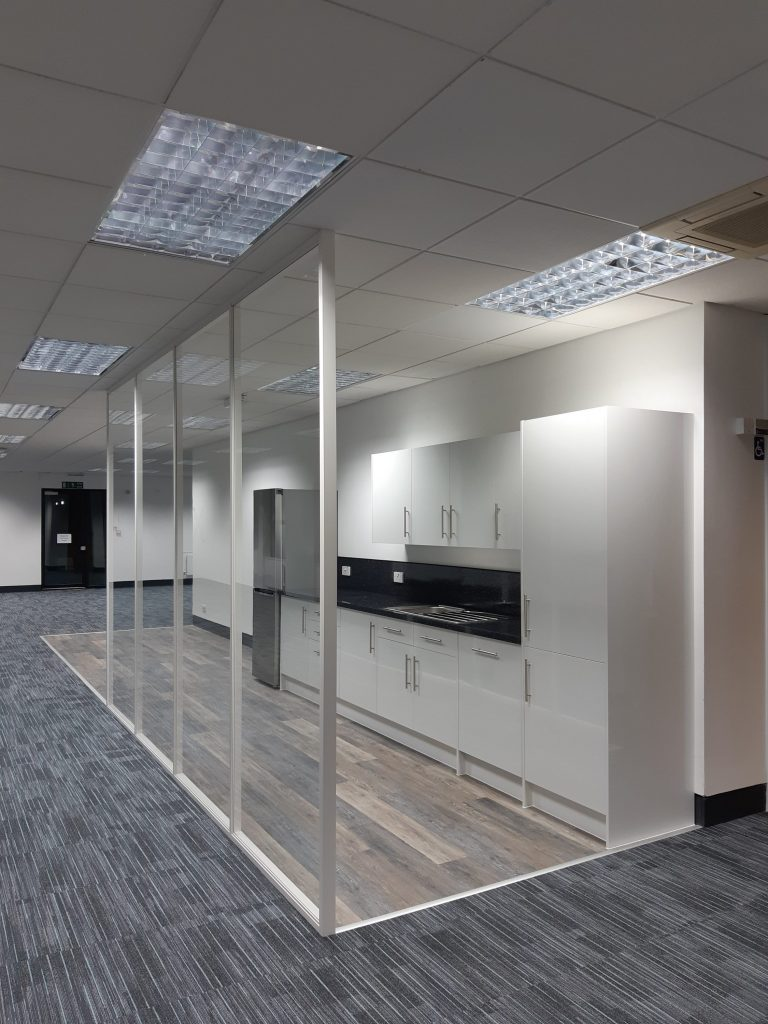Office Refurbishment Project with Tea Point install in Norwich, Norfolk by Acorn Works Ltd