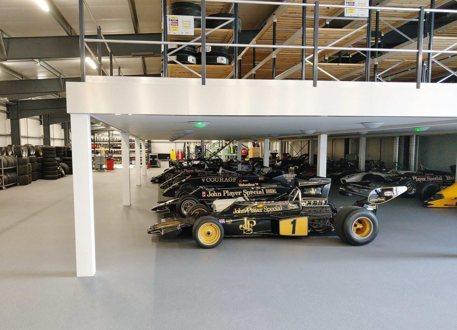 Classic Team Lotus Mezzanine Workshop Install by Acorn Works
