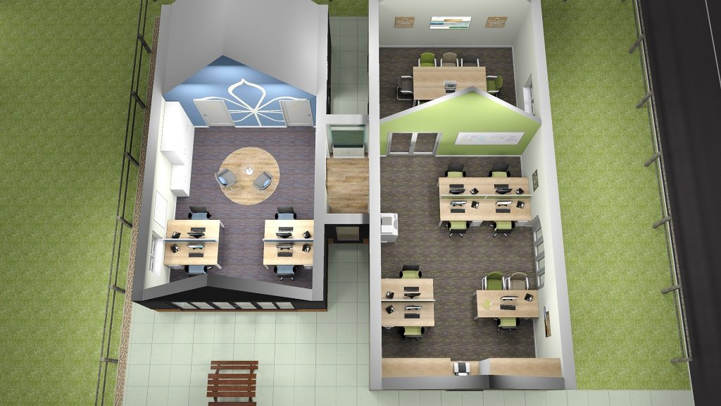 3D Office Refurbishment Layout Plans