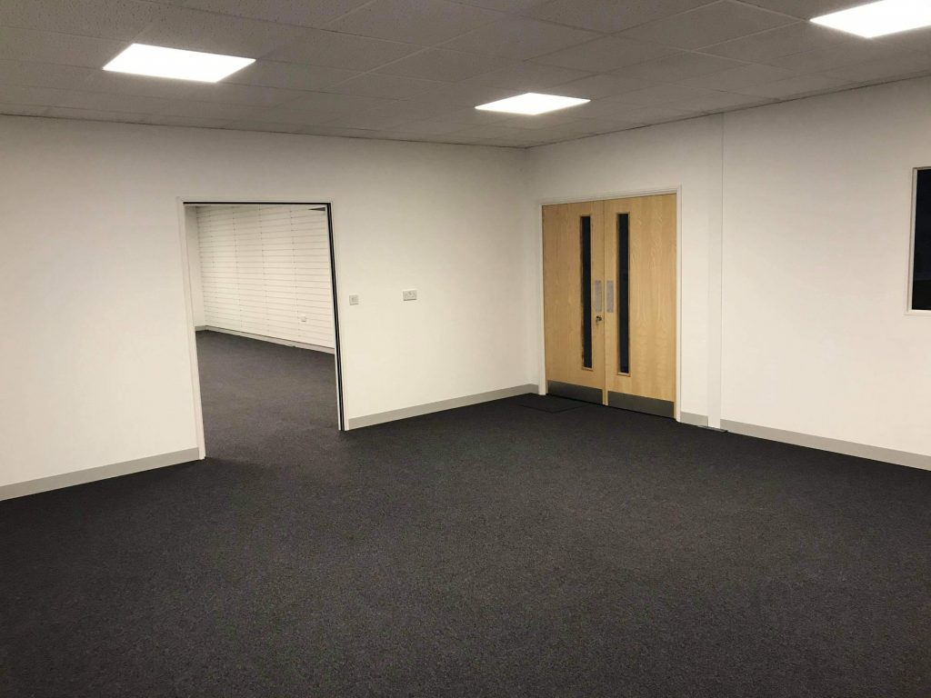 warehouse office interior unfurnished