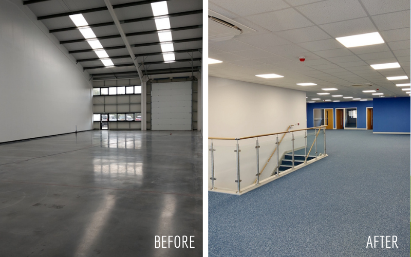 Before and After Office Refurbishment
